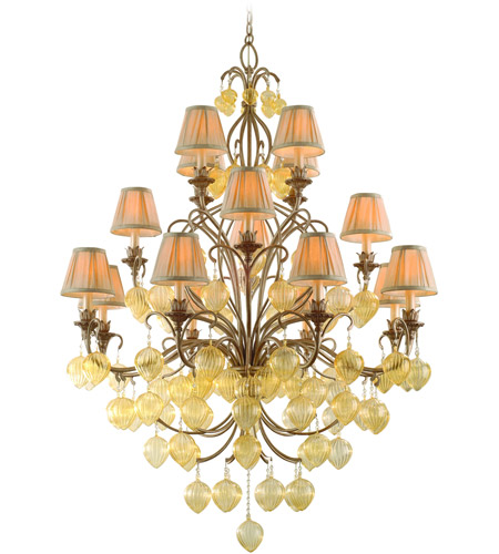 Corbett Lighting Venetian 16 Light Chandelier in Rialto 77-016 photo