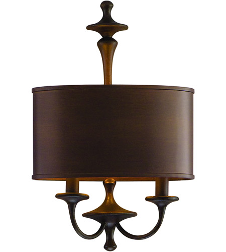 Corbett Lighting Bryant Park 2 Light Wall Sconce in Regent Bronze with Gold Leaf 80-12 photo