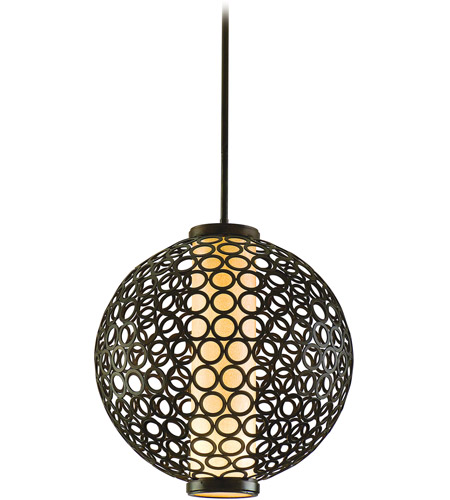 Corbett Lighting Bangle 3 Light Ball Pendant in Modern Bronze 83-43 photo