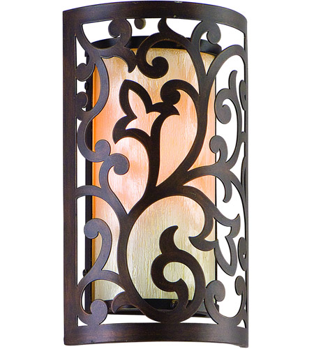 Corbett Lighting Philippe 1 Light Outdoor Wall Lantern in Tahitian Bronze 85-21 photo