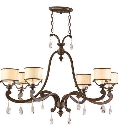 Corbett Lighting 86-56 Roma 6 Light 43 inch Classic Bronze Island Light Ceiling Light  photo