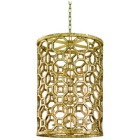 Corbett Lighting Regatta 12 Light Pendant Entry in Stained Silver Leaf 104-712