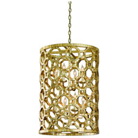 Corbett Lighting Regatta 8 Light Pendant Entry in Stained Silver Leaf 104-78
