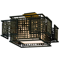 Corbett Lighting Shoji 2 Light Semi-Flush in Bonsai Bronze 105-32