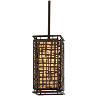 Corbett Lighting Shoji 1 Light Mini-Pendant in Bonsai Bronze 105-41