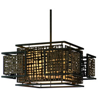 Corbett Lighting Shoji 3 Light Pendant Dining in Bonsai Bronze 105-44