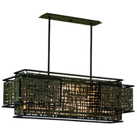 Corbett Lighting Shoji 4 Light Pendant Island in Bonsai Bronze 105-54