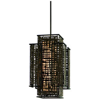 Corbett Lighting Shoji 2 Light Pendant Entry in Bonsai Bronze 105-72