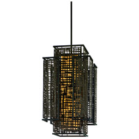 Corbett Lighting Shoji 3 Light Pendant Entry in Bonsai Bronze 105-74
