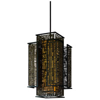 Corbett Lighting Shoji 4 Light Pendant Entry in Bonsai Bronze 105-75