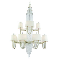 Corbett Lighting Viceroy 16 Light Chandelier in Antique Silver Leaf 106-024