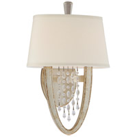 Corbett Lighting Viceroy 2 Light Wall Sconce in Antique Silver Leaf 106-12