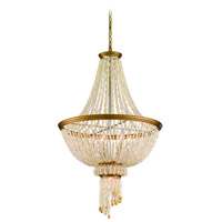 Corbett Lighting Bali 6 Light Pendant Dining in Champagne Leaf 107-47