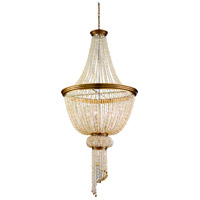 Bali 8 Light 30 inch Champagne Leaf Pendant Entry Ceiling Light