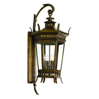 Corbett Greenwich 4 Light Exterior Wall Lantern In Historic Brass 108-23