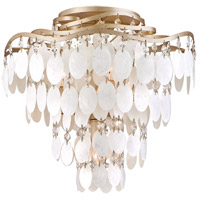 Dolce 4 Light 16 inch Champagne Leaf Semi-Flush Ceiling Light