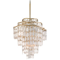 Corbett Lighting Dolce 9 Light Pendant in Champagne Leaf 109-412