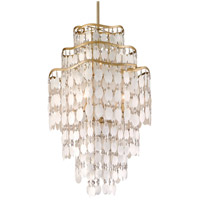 Dolce 6 Light 20 inch Champagne Leaf Pendant Ceiling Light