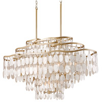 Dolce 12 Light 42 inch Champagne Leaf Island Light Ceiling Light