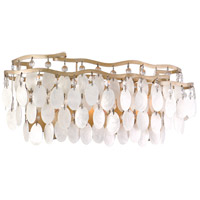 Dolce 11 Light 19 inch Champagne Leaf Bath Wall Light