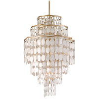 Dolce 12 Light 25 inch Champagne Leaf Pendant Ceiling Light