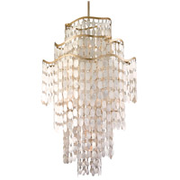 Dolce 19 Light 36 inch Champagne Leaf Pendant Ceiling Light