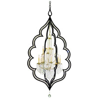 Corbett Lighting Bijoux 12 Light Pendant in Antique Black / Classic Golden Silver 111-412