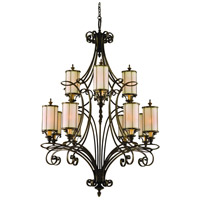 Corbett Lighting Montecito 12 Light Chandelier in Montecito Bronze 112-012