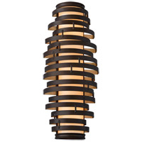 Corbett Lighting Vertigo 3 Light Wall Sconce Fluorescent in Bronze / Gold Leaf 113-13-F