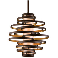 Corbett Lighting Vertigo 2 Light Pendant in Bronze / Gold Leaf 113-42