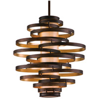 Corbett Lighting Vertigo 3 Light Pendant Fluorescent in Bronze / Gold Leaf 113-43-F