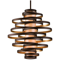 Corbett Lighting Vertigo 4 Light Pendant Fluorescent in Bronze / Gold Leaf 113-44-F
