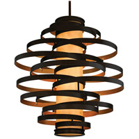 Corbett Lighting Vertigo 6 Light Pendant Fluorescent in Bronze / Gold Leaf 113-76-F