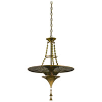 Corbett Lighting Nirvana 1 Light Pendant in Bombay Brass 118-41