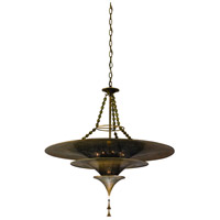 Corbett Lighting Nirvana 10 Light Pendant in Bombay Brass 118-410