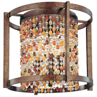 Corbett Lighting Karma 3 Light Flush Mount in Tranquil Bronze 120-33 photo thumbnail