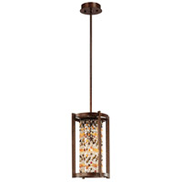 Corbett Lighting Karma 1 Light Pendant in Tranquil Bronze 120-41