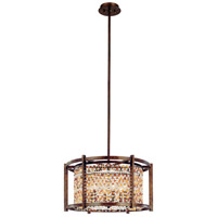 Corbett Lighting Karma 6 Light Pendant in Tranquil Bronze 120-46