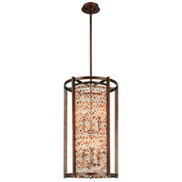 Corbett Lighting Karma 6 Light Pendant Entry in Tranquil Bronze 120-77