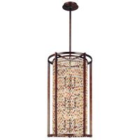 Corbett Lighting Karma 9 Light Pendant Entry in Tranquil Bronze 120-79