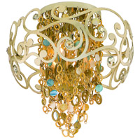 Corbett Lighting Le Tresor 4 Light Semi-Flush in Treasured Silver Leaf with Champagne Mist 121-34
