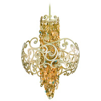 Corbett Lighting Le Tresor 6 Light Pendant in Treasured Silver Leaf with Champagne Mist 121-46