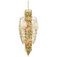Corbett Lighting Le Tresor 10 Light Pendant Entry in Treasured Silver Leaf with Champagne Mist 121-710