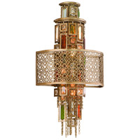 Riviera 2 Light 12 inch Riviera Bronze with Silver Leaf Wall Sconce Wall Light