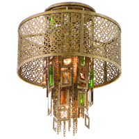 Corbett Lighting Riviera 1 Light Semi-Flush in Riviera Bronze with Silver Leaf 123-31