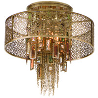 Corbett Lighting Riviera 4 Light Semi-Flush in Riviera Bronze with Silver Leaf 123-34