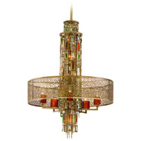 Riviera 10 Light 24 inch Riviera Bronze with Silver Leaf Pendant Ceiling Light
