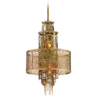 Corbett Lighting Riviera 2 Light Mini-Pendant in Riviera Bronze with Silver Leaf 123-42