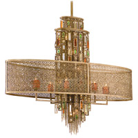 Corbett Lighting Riviera 11 Light Island Light in Riviera Bronze with Silver Leaf 123-511