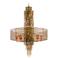 Corbett Lighting Riviera 15 Light Pendant in Riviera Bronze with Silver Leaf 123-715